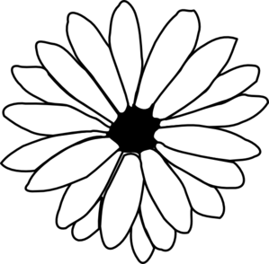 Daisy outline clip art. Daisies clipart silhouette transparent library