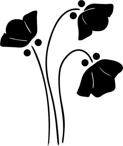Daisy flower at getdrawings. Daisies clipart silhouette picture black and white library