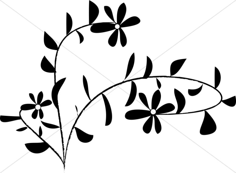 Daisies clipart silhouette. Daisy flower at getdrawings