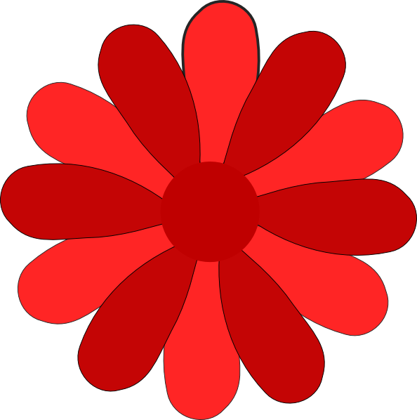 Daisies clipart three. Red gerber daisy clip