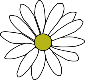 Daisy clipart bloom. Simple clip art at