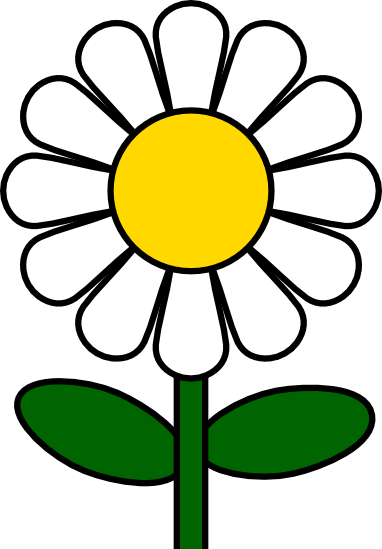 Daisies clipart three. Daisy and vector illustrations