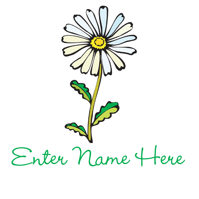 Daisy clipart banner. Personalized by giftnook favorite