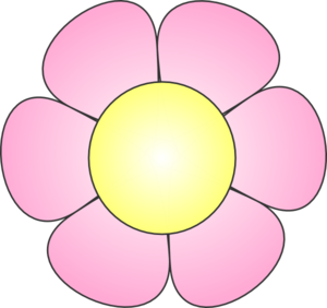 Daisy clipart bloom. Pink clip art at