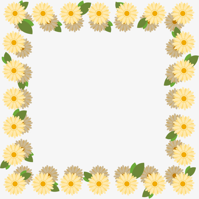 Daisy clipart frame. Hand drawn borders png