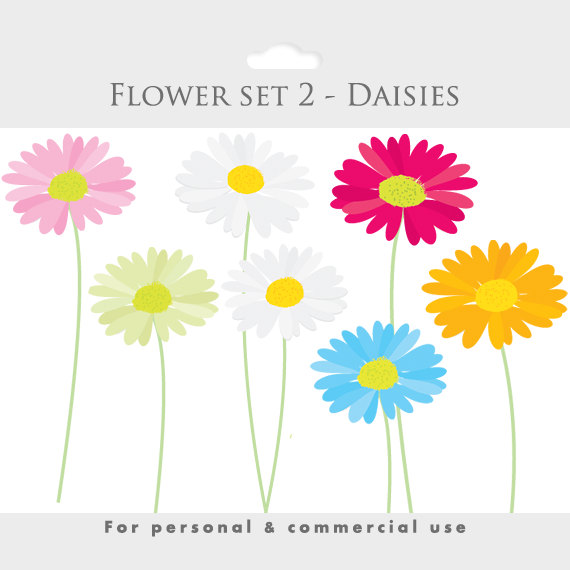 Daisy clipart long stem flower. Daisies spring clip art