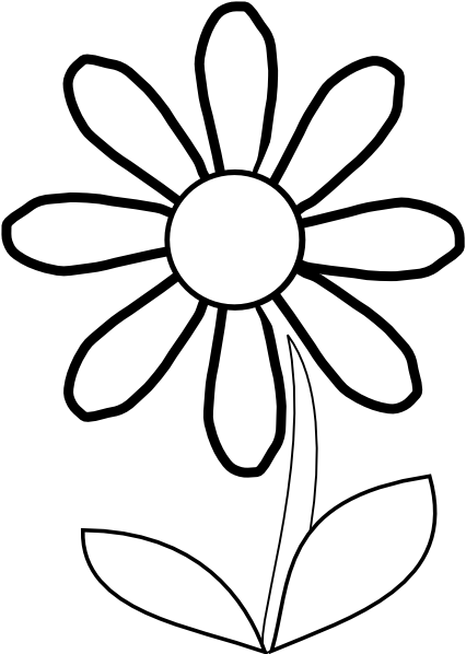 Daisy clipart long stem flower. White with clip art