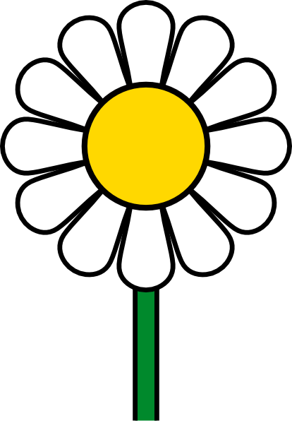 Daisy clipart long stem flower. No leaf clip art