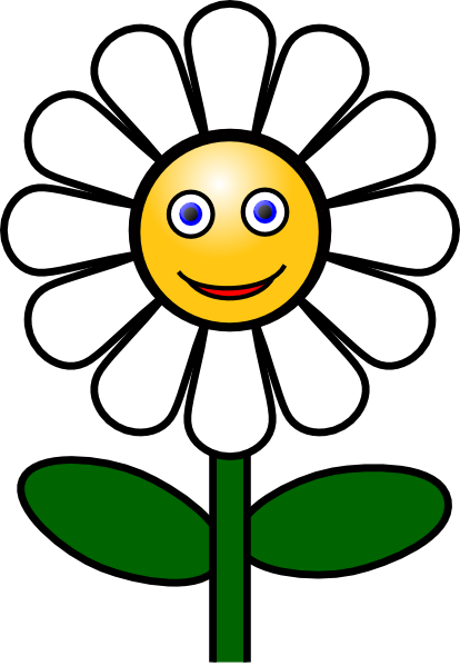 Daisy clipart sunflower. Smiling
