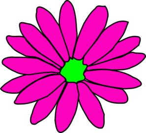 Daisy clipart vine. Pink and green clip
