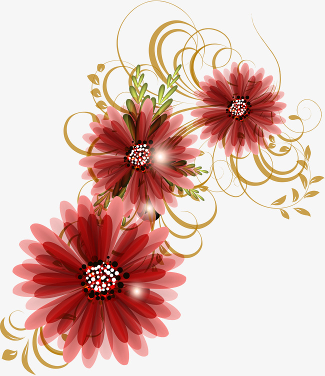 Daisy clipart vine. Red concise flower gules