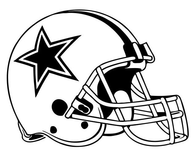 Dallas cowboys clipart helment. Football helmet picture concept