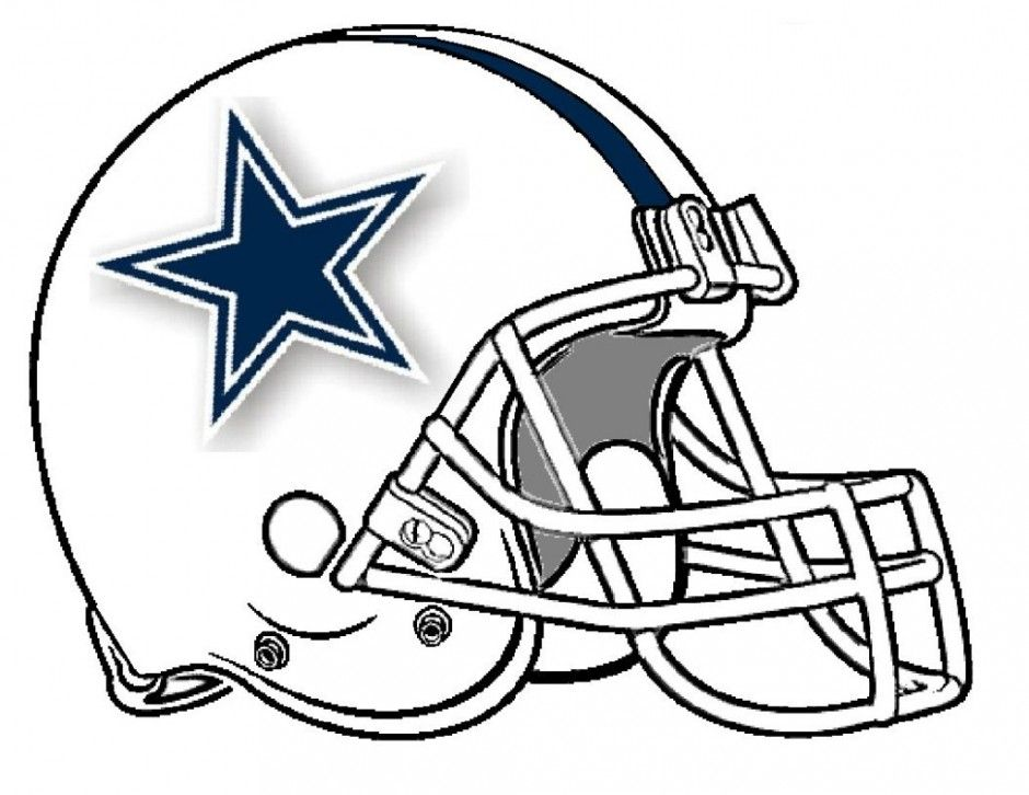 Dallas cowboys clipart painting. Helmet drawing at getdrawings