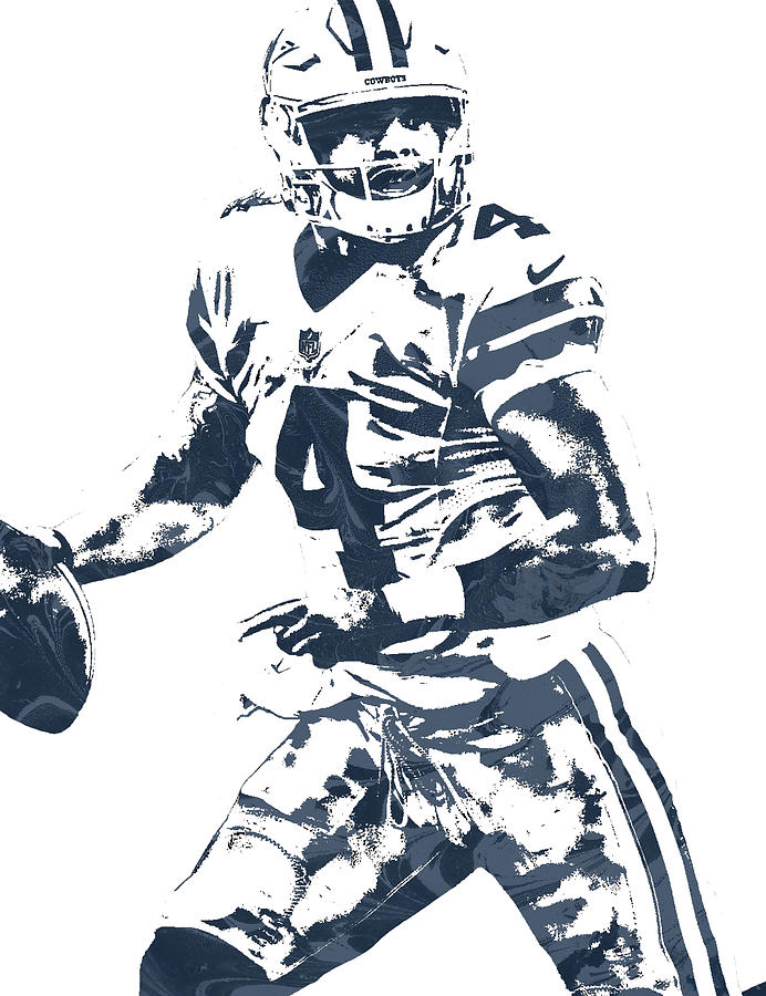 Dallas cowboys clipart painting. Dak prescott pixel art