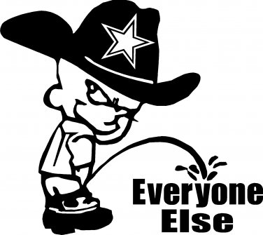 Dallas cowboys clipart sticker. Pee piss on everyone