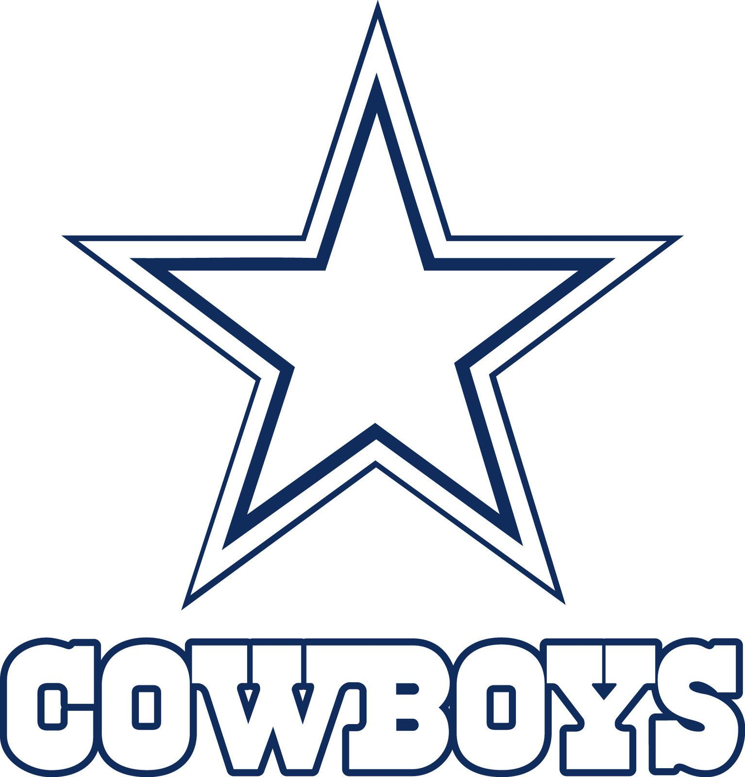 Dallas cowboys clipart text. Logo drawings star lo