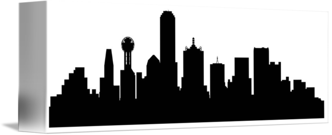 Dallas drawing skyline. Cityscape by kevin