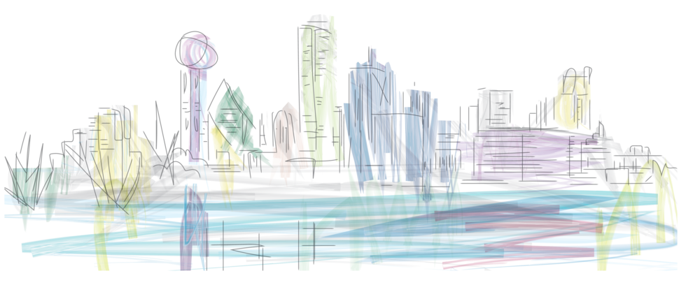 Dallas drawing skyline. Audrey cho s ideal