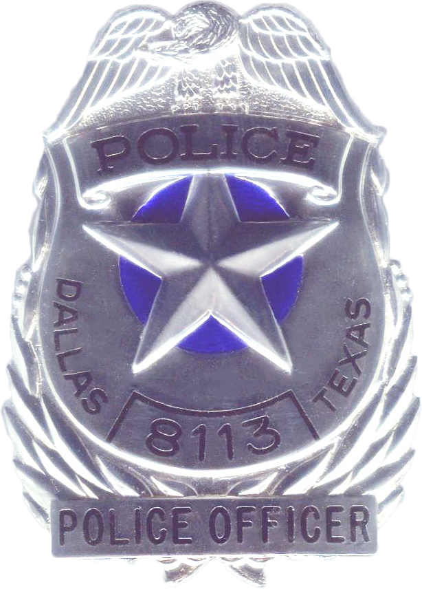 Dallas Police Badge Transparent & PNG Clipart Free Download - YA