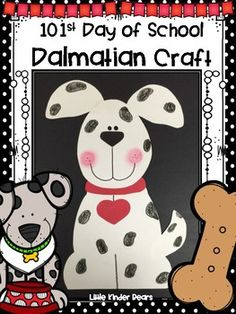 st of school. Dalmatian clipart 101st day image library stock