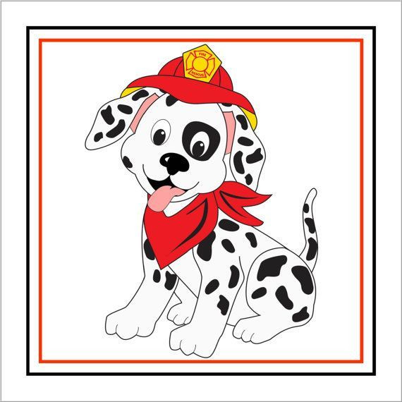 Dalmatian clipart. An adult dog with