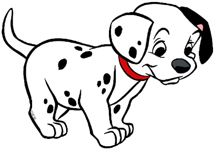 Dalmatian clipart black and white. Dalmatians puppies clip