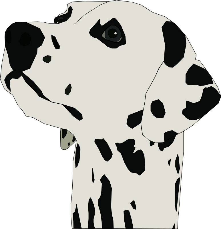 Dalmatian clipart black and white. Download clip art library