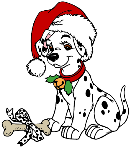 Cute christmas dalmations dalmatians. 4d drawing dog graphic transparent library