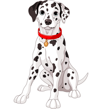 Dalmatian clipart two dog. Dalmation clip art pictures