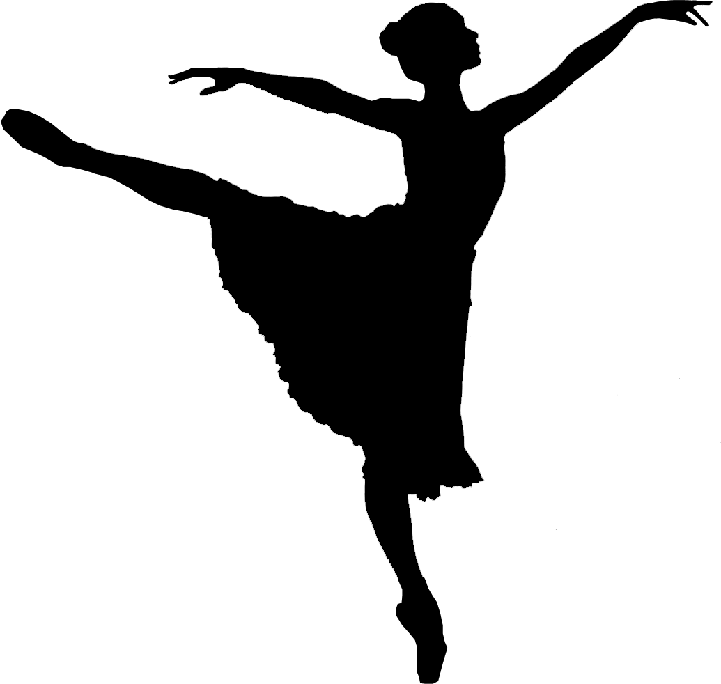 Dance clip art png. Ballet dancer silhouette transparent