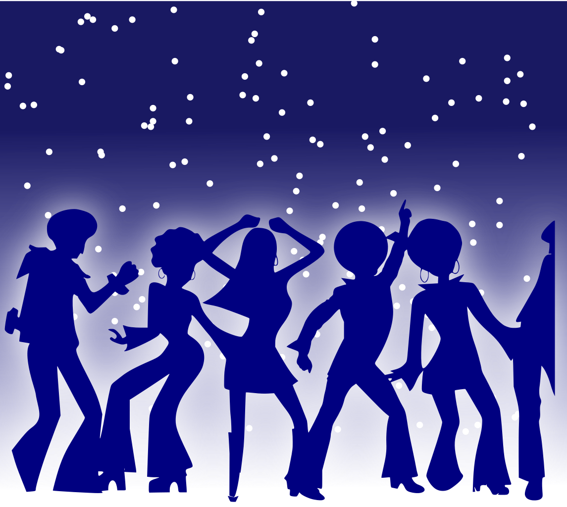 Dance clipart dance performance. File disco dancers svg