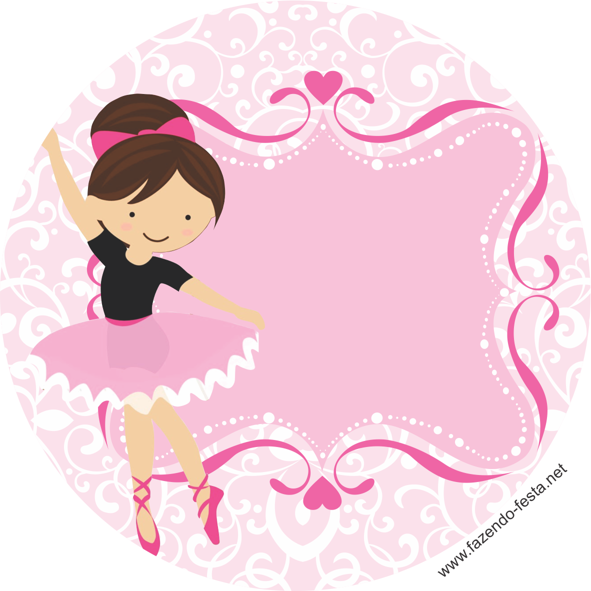 Dance clipart dance recital. Mini kit de ballerina
