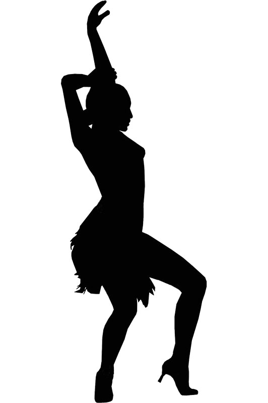 Drill silhouette at getdrawings. Dance clipart dance team svg black and white
