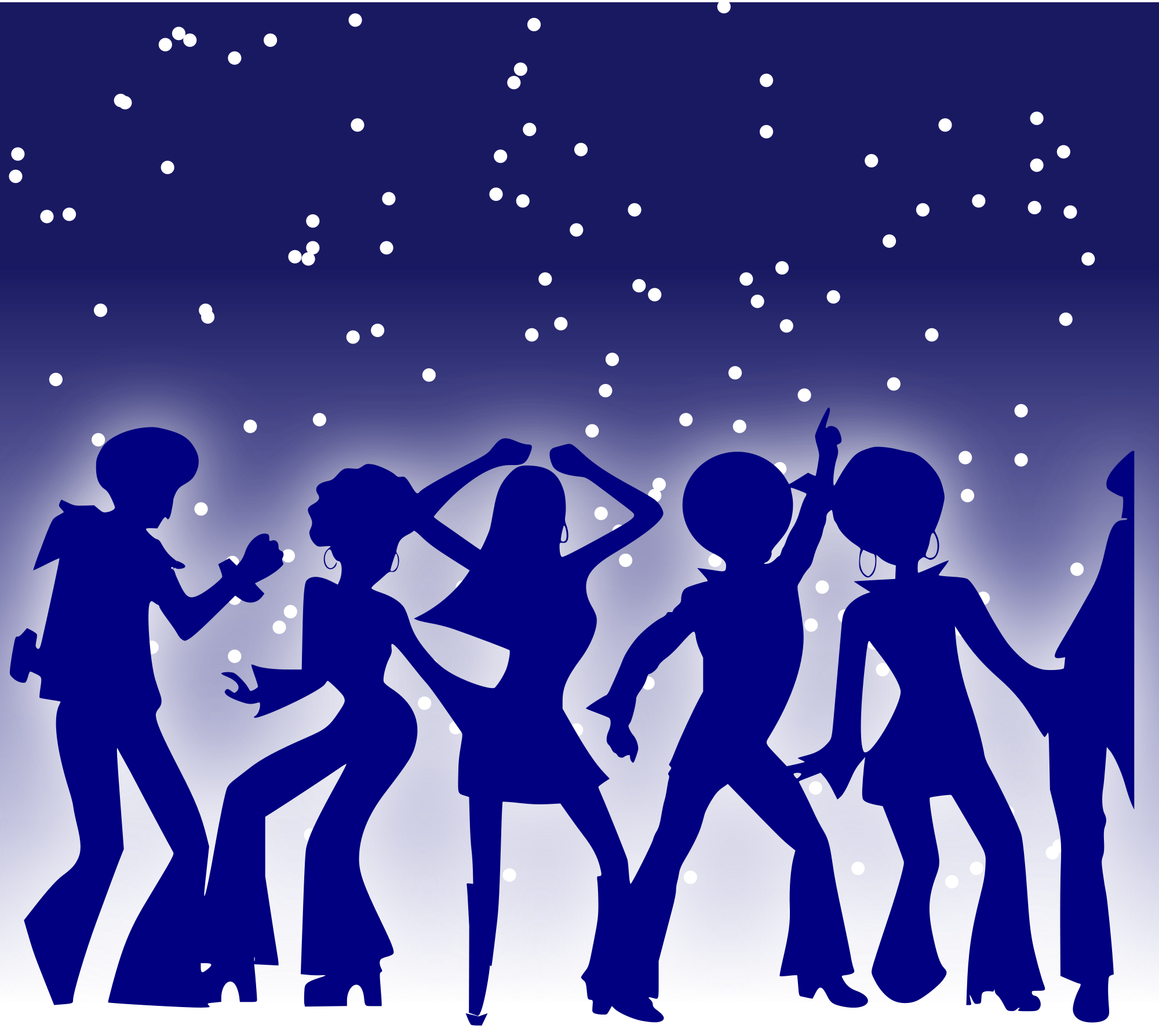 File disco dancers svg. Dance clipart dance team clip art black and white stock