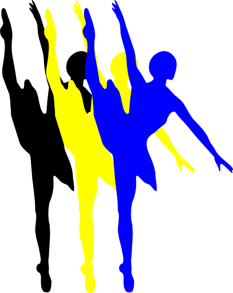 Dance clipart dance team. Drill silhouette at getdrawings