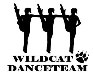 Clubs wildcat squad. Dance clipart dance team clip black and white