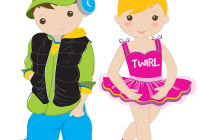 Kids disco party children. Dance clipart dancing boy graphic freeuse download
