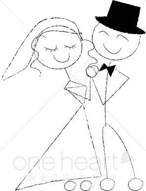 Cartoon wedding. Dance clipart first dance png black and white library