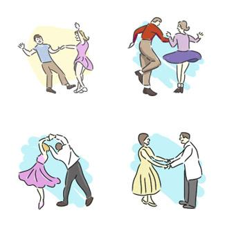 Dance clipart folk dance. Fifties clip art lovetoknow
