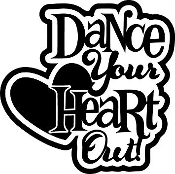 Your out wall art. Dance clipart heart clip art black and white library