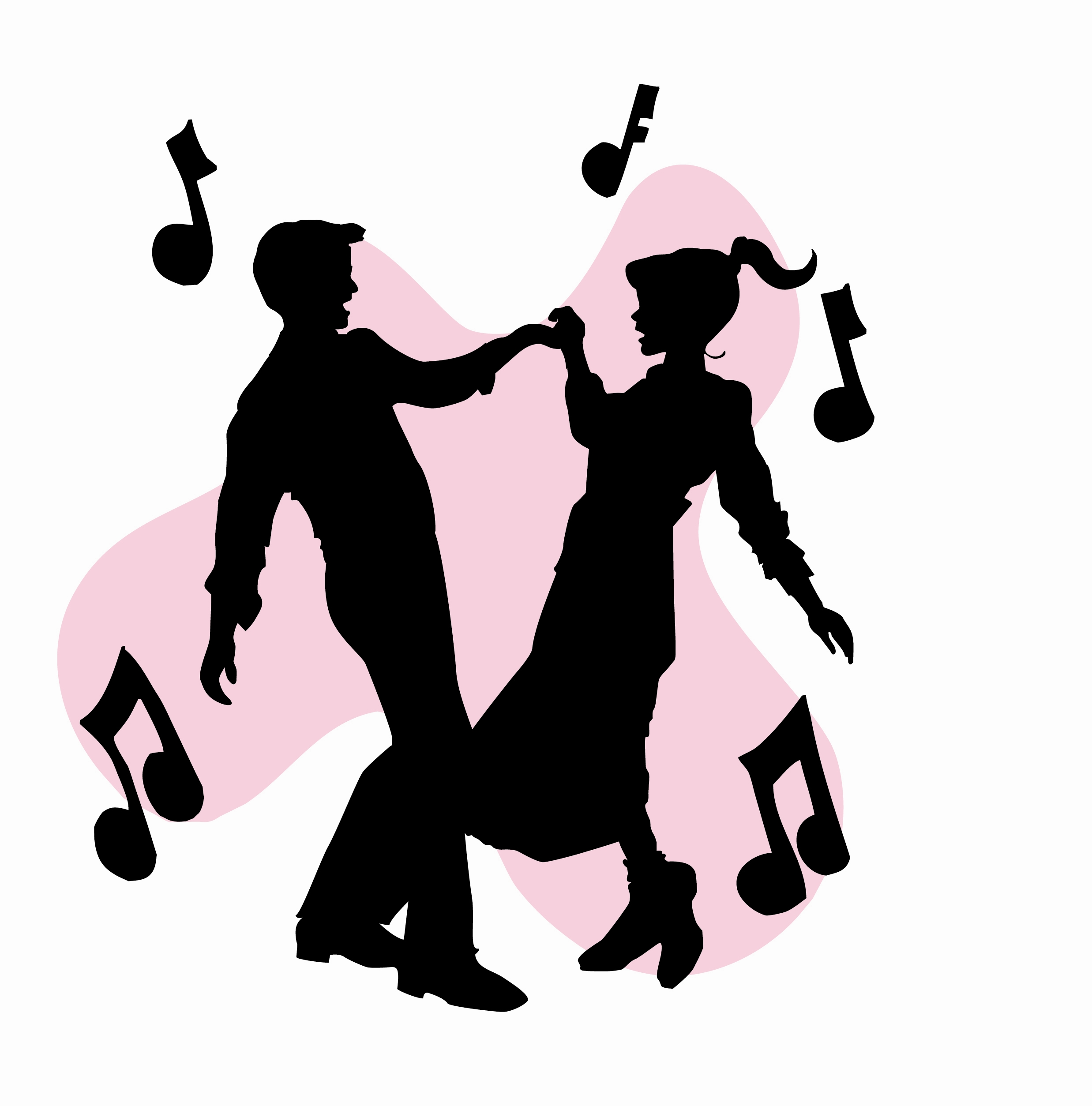 Dancing clipart shadow. Silhouette of at getdrawings