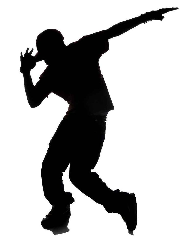 Dancing clipart shadow. Hip hop dancer panda