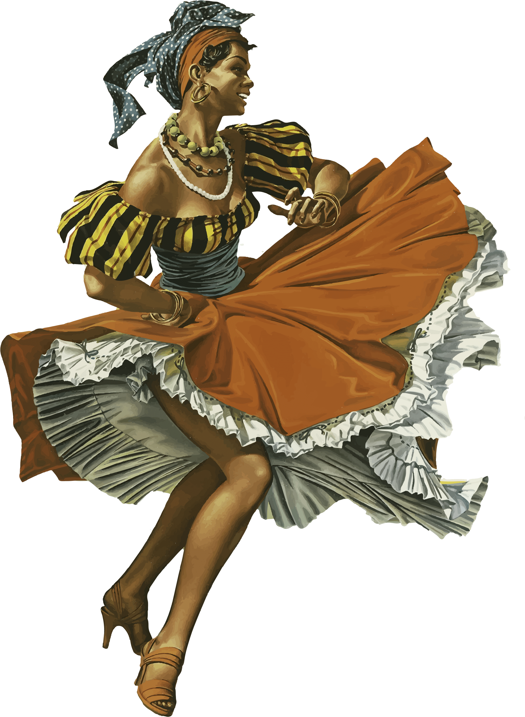 Dance clipart vintage. Dancer caribbean transparent png