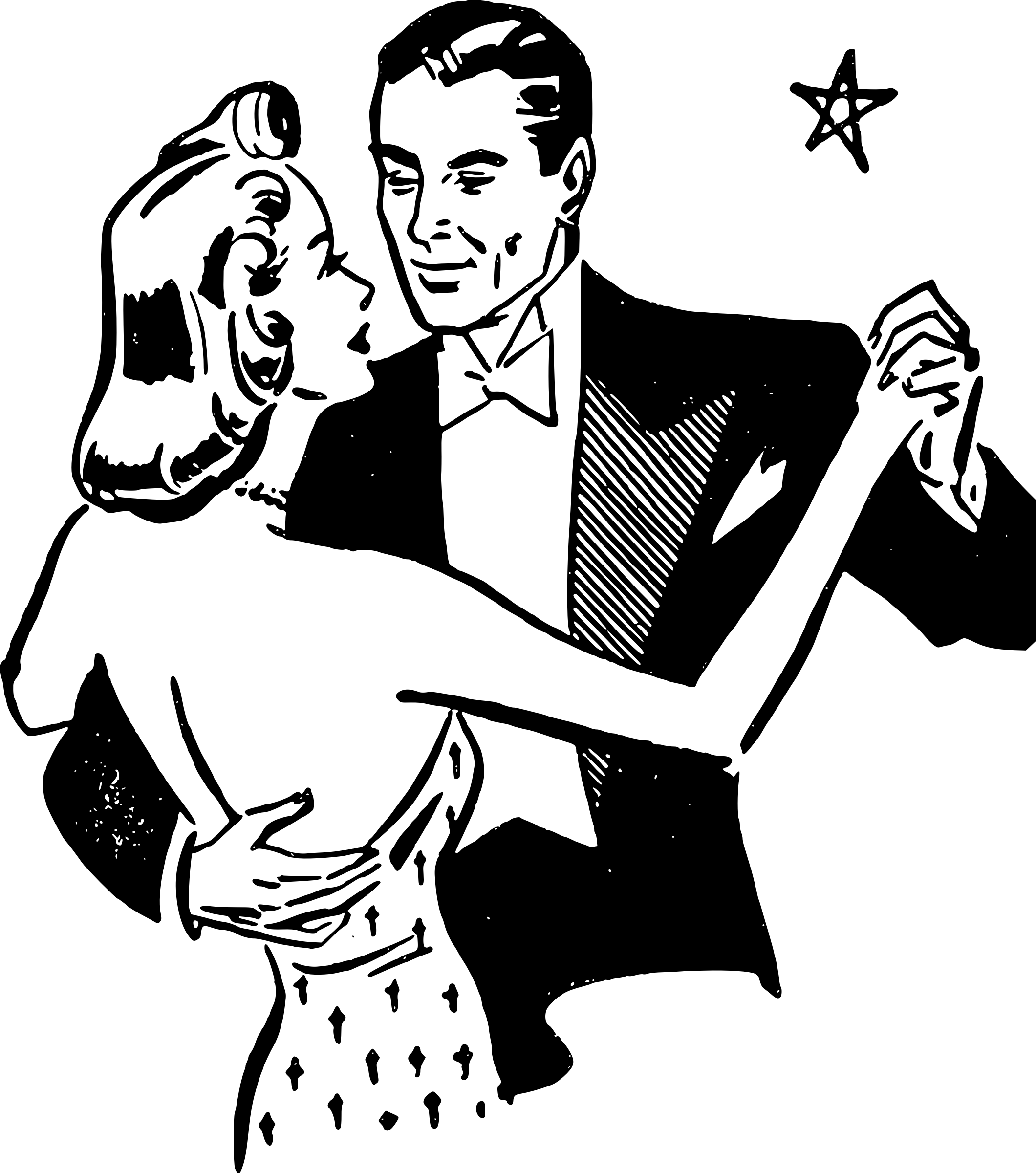 Dancing clipart vintage. Dancers couple transparent png