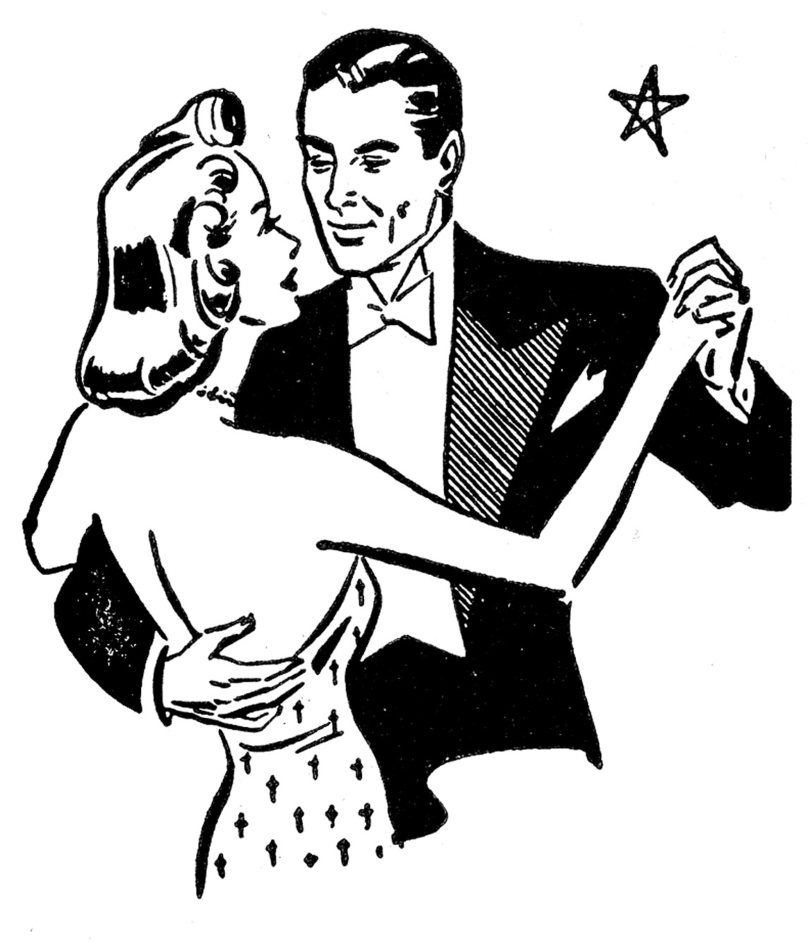 Dance clipart vintage. Retro clip art couples