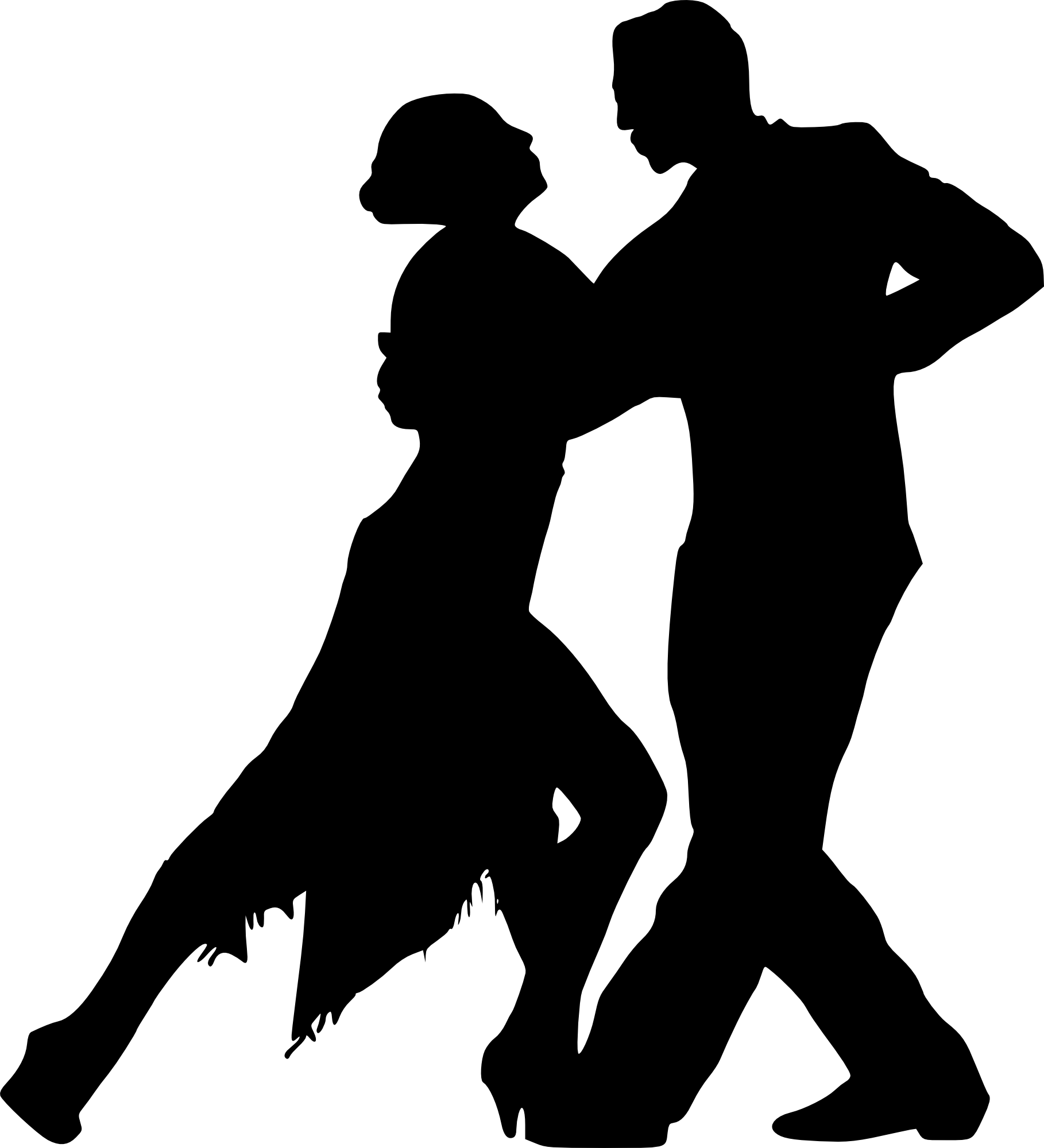 Dance couple png. Dancing silhouette transparent