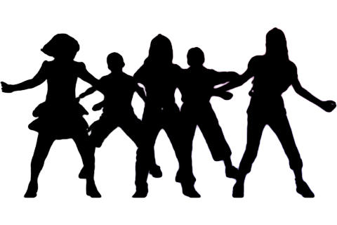 Drill silhouette at getdrawings. Dance team png clip black and white stock