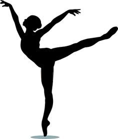 Silhouette panda free images. Dancer clipart arabesque jpg library download