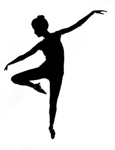 Silhouette panda free images. Dancer clipart arabesque picture black and white library