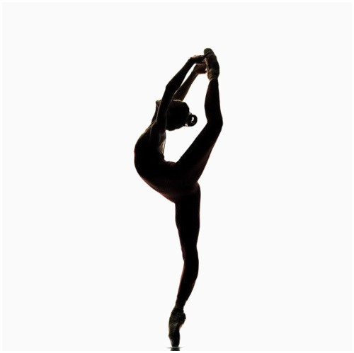 Dancer clipart arabesque. Dancers silhouette lovely
